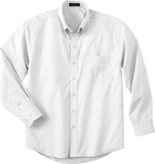 Men's Tall Long Sleeve Easy Care Twill Shirt-