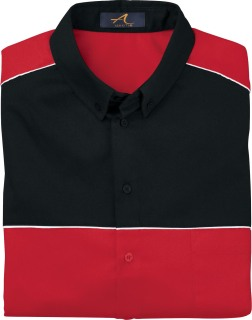 Men's Color Block Long Sleeve Shirt-