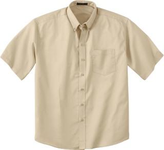 Men's Short Sleeve Shirt With Teflon-