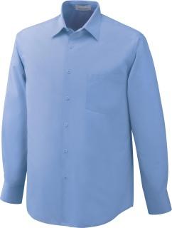 Men's Wrinkle Resistant Cotton Blend Poplin Taped Shirt-Ash City