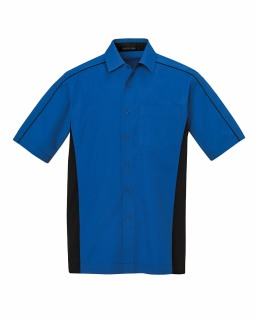 87042T New Fuse Men's Color-Block Twill Shirts-