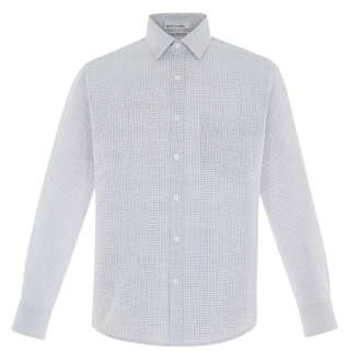 New Paramount men's Wrinkle Resistant Cotton Blend Twill Checkered Shirts-