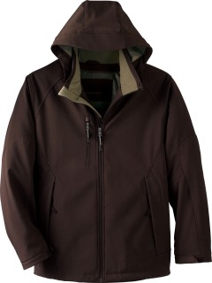 Men's Insulated Soft Shell Jacket With Detachable Hood-