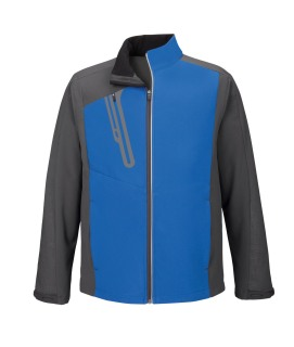 Terrain Men's Color-Block Soft Shell With Embossed Print-