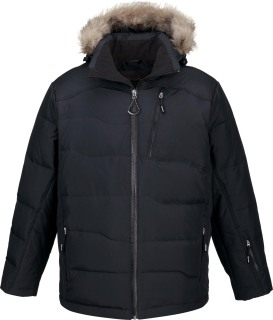 Boreal Men's Down Jacket With Faux Fur Trim-