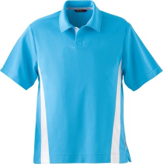 Men's Polyester Pique Polo With Stripe-