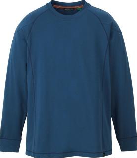 Men's Organic Cotton/Spandex Jersey Long Sleeve Crew-