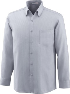 Men's Wrinkle Free 2-Ply 80's Cotton Stripe Jacquard Taped Shirt-