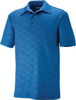 Maze Men's Performance Stretch Embossed Print Polo-