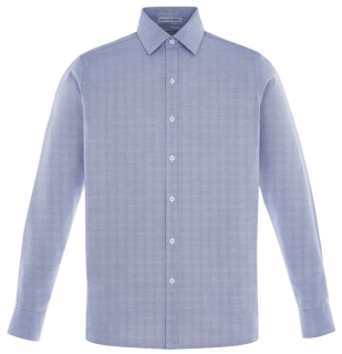 New Precise Men's Wrinkle Free 2-Ply 80's Cotton Dobby Taped Shirts-
