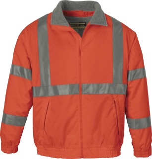 Men's Insulated Safety Jacket-Ash City