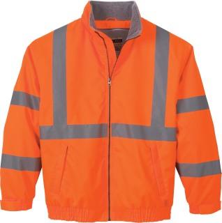 Men's Vertical Stripe Insulated Safety Jacket-