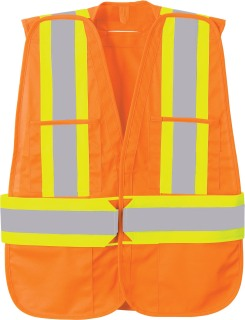 5-Point Vertical Stripe Tear Away Safety Vest-