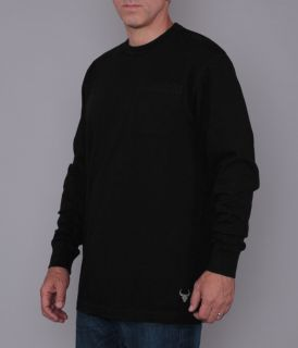 Men's Long Sleeve Crew Neck Pocket Tee