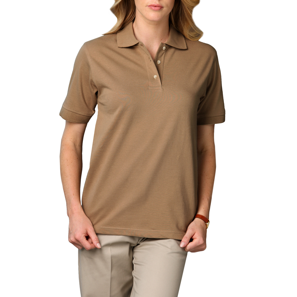 Ladie's Short Sleeve Superblend Pique-CLEMENS