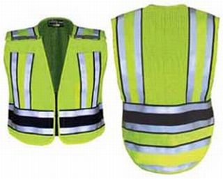 Hivis Yellow Pro Series Safety Vest With Navy Band
