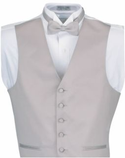 5 Button Satin Vest-Fabian Couture Group International