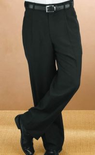 Mens Comfort Waist Pleated Pant-Fabian Couture Group International