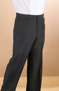 Men's Black Polyester Pocketless Pant-Fabian Couture Group International