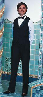 2224V Satin Shawl Tuxedo Vest