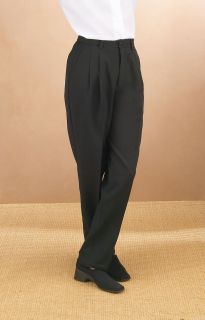 2225P Comfort Waist Pleated Trouser-Fabian Couture Group International