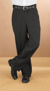 2805P Comfort Waist Pleated Trouser-Fabian Couture Group International