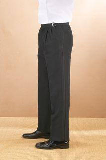 Polyester Pleated Adjustable Waist Tux Pant
