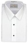 """Men's White 1/4"""" Pleat Laydown Tuxedo Shirt"""