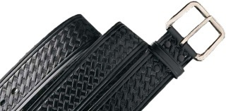 Leather Basketweave Belt-