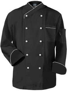 """Frenchy"" Chef Coat Black White Trim"