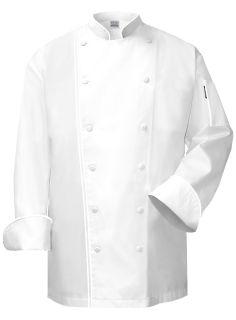 """ Five Star"" Executive Chef Jacket Black Trim"