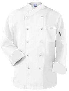 """Frenchy"" Chef Coat White White Trim"