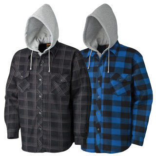415B Quilted Hooded Polar Fleece Shirt