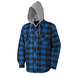 415SS Quilted Hooded Polar Fleece Shirt