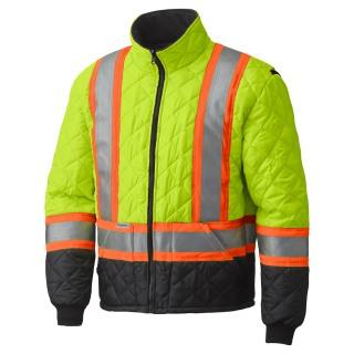 5016 Hi-Viz Quilted Freezer Jacket-Pioneer