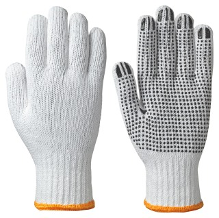 502 Knitted Cotton/Poly Glove, Dots on Palm