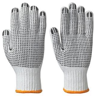 504 Knitted Cotton/Poly Glove, Dots on Both Sides
