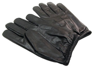 Leather Cut Resistance Street & Search Gloves w/Kevlar Lining-