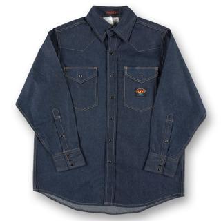 Blue Denim FR Heavyweight Work Shirt-Rasco FR