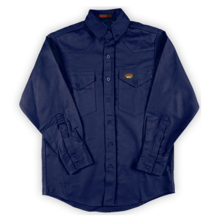 Navy FR l Dress Shirt-Rasco FR