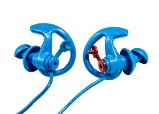 EP8 Sonic Defenders® Cobalt Filtered Flanged Earplugs-