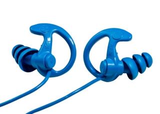 EP9 Sonic Defenders® Cobalt Max Full-Block Flanged Earplugs-