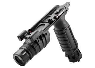 M900V-BK Vertical Foregrip LED WeaponLight � White and IR Output-Surefire