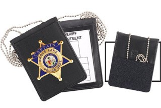 71600_Neck - Dress Recessed Badge & ID Holder-Strong Leather