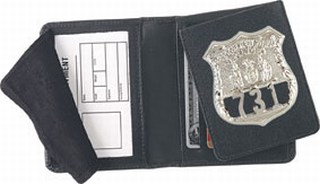 Side Open Flip-out Badge Case - Dress-Strong Leather