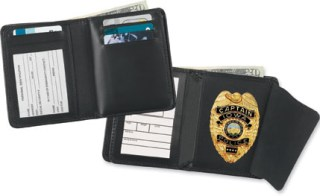 Deluxe Hidden Badge Wallet - Dress-Strong Leather