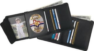Hidden Badge Wallet - Dress-Strong Leather