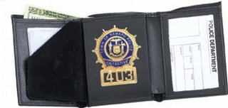 79800_Tri-fold Badge Wallet - Dress-Strong Leather