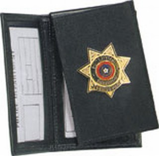 Side Open Double ID with Flip-out Badge -Dress-Strong Leather