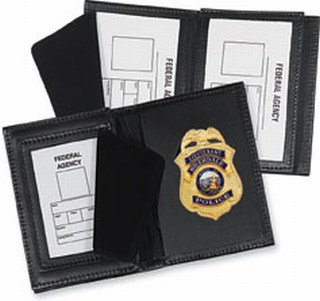 Side Open Badge Case with Smart Card Window - Dress-Strong Leather